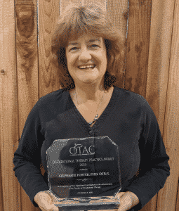 Stephanie Foster wins OTAC Occupational Therapy Award